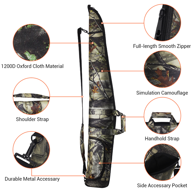 130CM Tactical Gun Bag Case 1200D Military Rifle Bag Outdoor Camouflage Concealed Hunting Accessories Shot Gun Carry Holsters 2