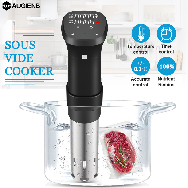 1800W Sous Vide Cooker Thermal Immersion Circulator Machine With Large Digital LCD Display Time And Temperature Control