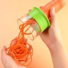 Cortador de pepino espiral, de mão, ralador, cortador, batata, cenoura, frutas, salada, macarrão, ferramentas espirais