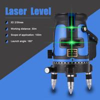 3D 360 Rotation Laser Level Measuring Mater Ultra-bright Green Light Level Tool Instrument Infrared Ray Projector Tester Tools