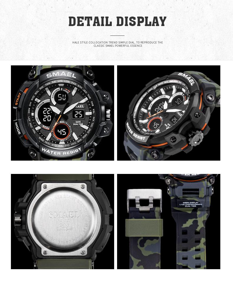 smael legal men watch grandes relógios relógio