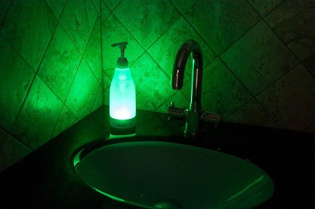 Automatic Sensor Soap Dispenser Motion Activate Touchless Sanitizer Dispenser Smart Sensor LED Guide Nightlight 3