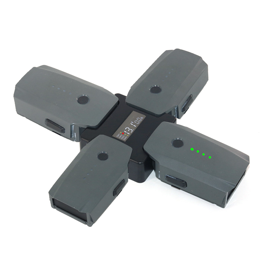 Battery Manager Parallel Charging Board ForMavic Pro Charging Hub Charger Adapter With Digital Display For DJI MAVIC PRO Battery