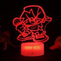 店の日の夜のためのFnf LEDナイトライト,3Dランプ,素敵な部屋の装飾,ガールフレンドへのギフト