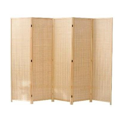 Pantalla divisoria plegable de 4 paneles de bambú con estantes de almacenamiento removibles, pantalla de privacidad con bisagras, divisor de habitación plegable portátil Toalla de piel auténtica, piel de oveja natural, pantalla de limpieza de alta gama, absorbente de piel de oveja para coche