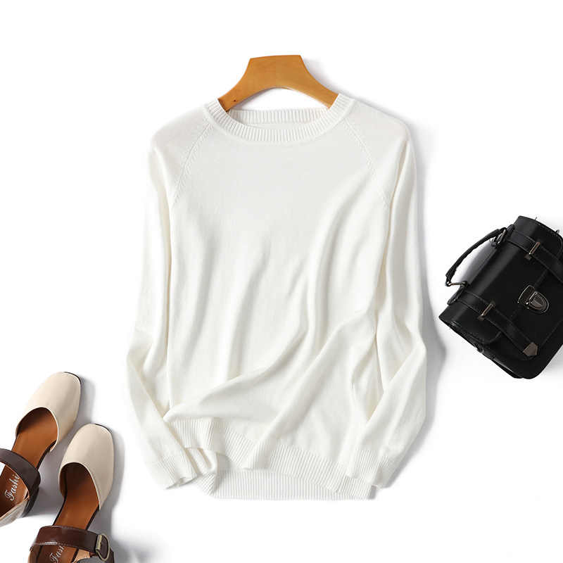 Hlbcbg Garis Lengan Panjang Rajutan Hitam Sweater Wanita Tops Musim Gugur O Leher Pendek Kasual Pullover Jumper Tarik Femme