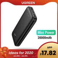 Ugreen power bank 20000 mah carregador de bateria móvel externo portátil carregador de telefone rápido para samsung s10 iphone 8 mini poverbank
