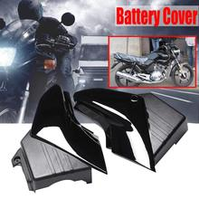 цены Motorcycle 1 Pair Black Side Panel Battery Cover Plastic Motorbike Left & Right Battery Cover For Yamaha YBR 125 2005-2009