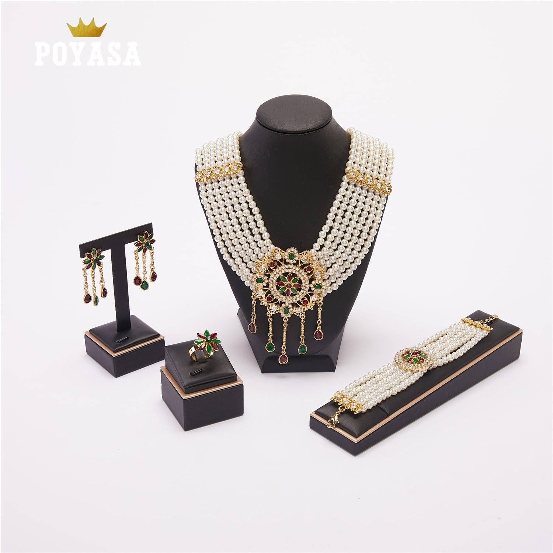 Wedding pearl jewelry set for women  fashion jewelry set pearl jewelry set
