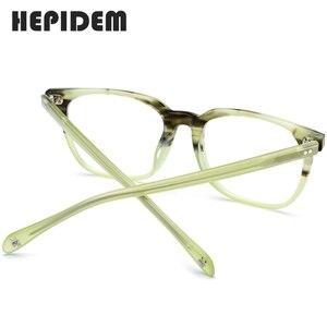 Image 4 - アセテート眼鏡フレーム男性正方形処方メガネ新人男性の男性近視光学フレーム眼鏡眼鏡9114