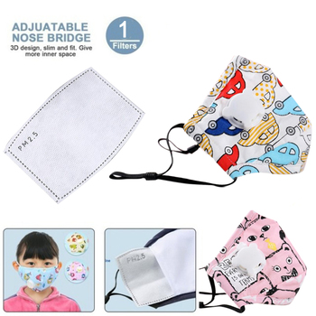 Cartoon Children PM2.5 Mouth Mask Kids Activated Carbon Breathable Mask Anti Dust Mouth-muffle Respirator Cotton Face Masks