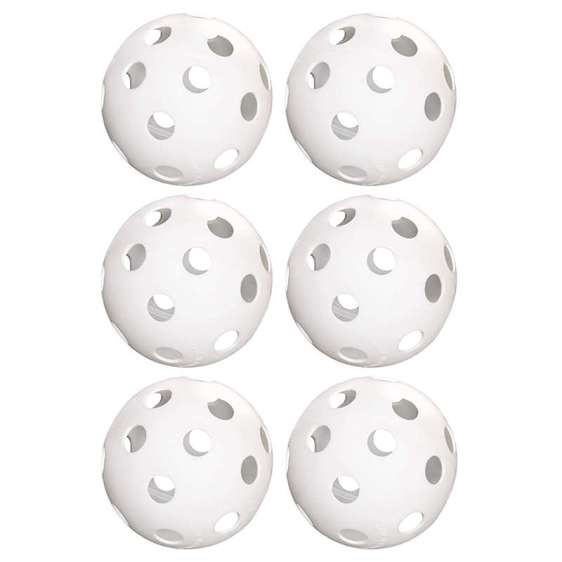 6-Pack Of 9-Inch Softballs–Perforated Practice Balls For Sports Training & Wiffle Ball Must-have Training Aid
