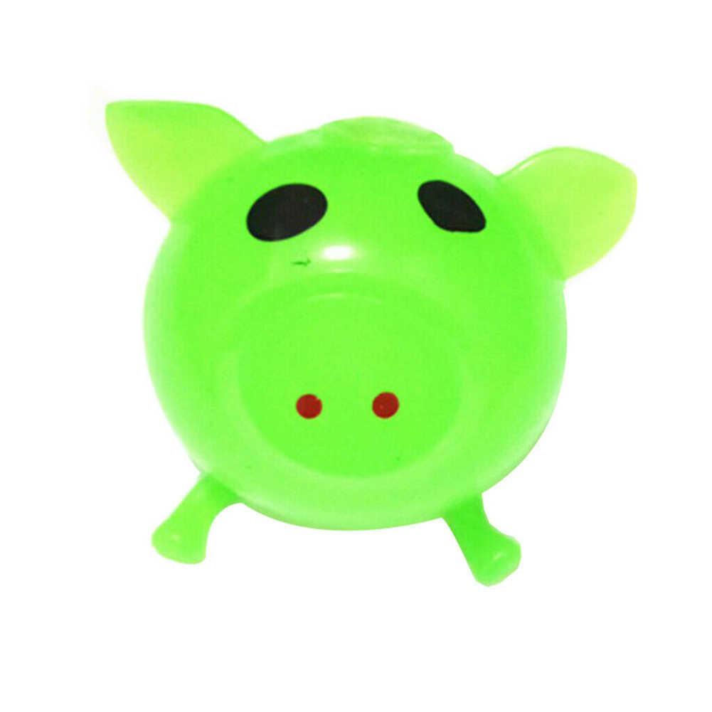 1Pc Jello cochon mignon Anti Stress eau cochon balle évent jouet aération collant cochon Antistress doux soulagement du Stress drôle cadeau