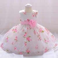 Vestido de cumpleaños para niña de 1 año, ropa para niña pequeña, vestido de baile de flores, vestido de princesa para niño recién nacido, trajes para niño pequeño