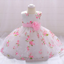 Birthday Dress for 1 Year Baby Girl Clothes Flower Boutiques Ball Gown Child Girl Princess Dress for Newborns Toddler Outfits