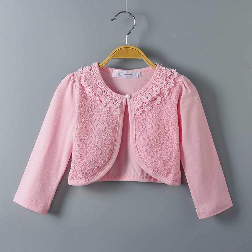 Baby Girls Shawl Coat Fashion Kids Little Girls Lace Princess Bolero Cardigan Shrug Spring Autumn Tops Cute Hot Selling Clothes