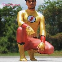 Disfraz de Cosplay de Flash para niños, traje de superhéroe de Los Simpsons Allen Zentai, monos musculosos de fantasía