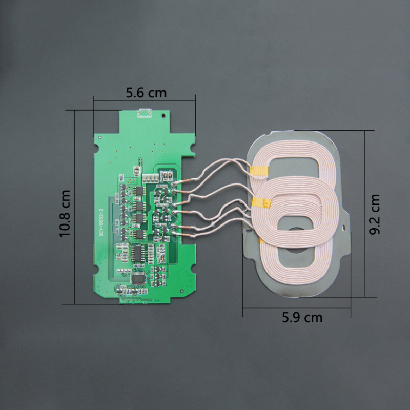 Excellent Creative DIY 3 Coils Wireless Charger For Mobile Cell phone PCBA Circuit Board 5V/2A Qi Wireless Charging Standard