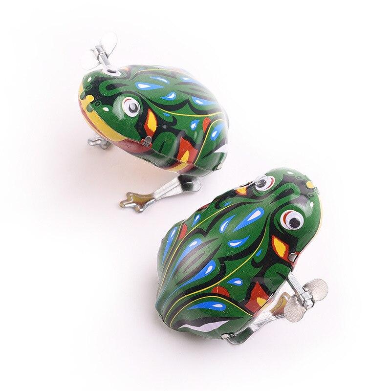 Genuine Live Eye Leapfrog Algam Leap Frog Wind-up Toy Algam Spring Live Eye Frog Retro Toy Wholesale