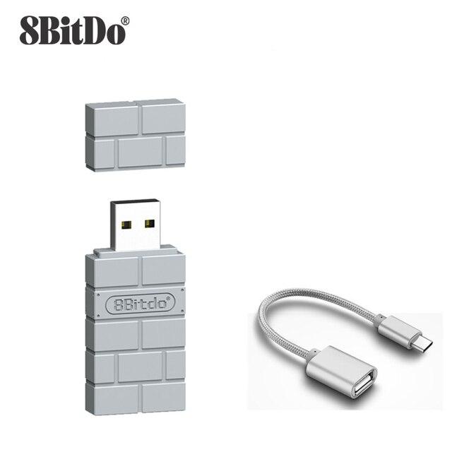 Adaptador receptor USB inalámbrico Bluetooth 8BitDo para Nintendo Switch, klassiche, Konsole, PS1, Mini controlador PS4