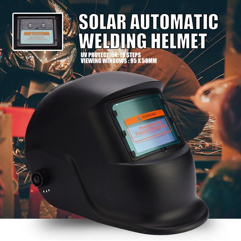 M/áscara de soldadura m/áscara de casco de soldadura solar variable autom/ática anti-impacto Cubierta protectora antideslumbrante para soldadura por arco M/áscara de soldador de molienda