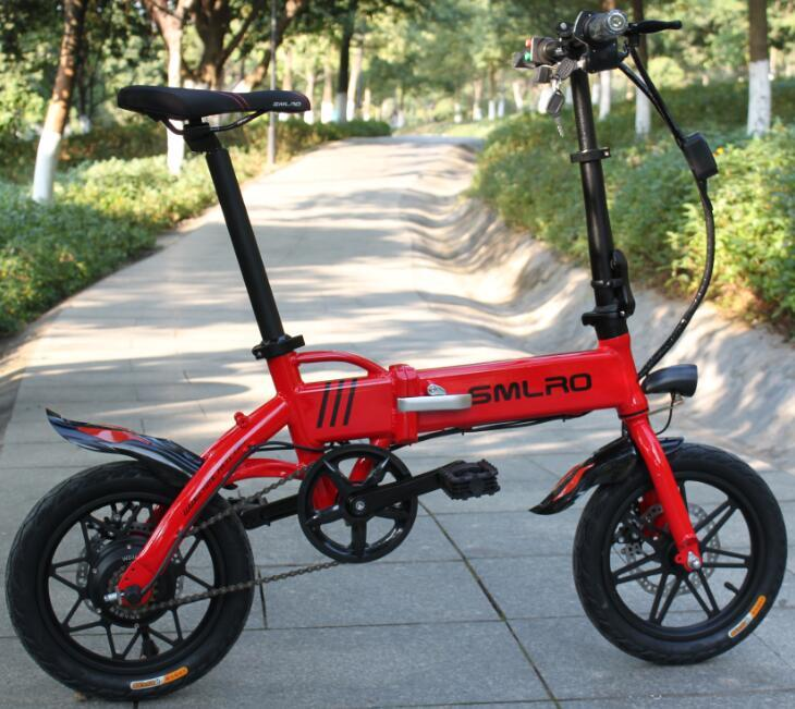 14EF 14inch electric bike mini 250W Powerful folding City electric bicycle 36V Lithium Battery city ebike 10