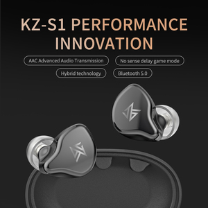 Image 4 - KZ S1 S1D TWS Bluetooth inalámbrico verdadero 5,0 auriculares dinámicos/híbrido auriculares de Control táctil de la cancelación del ruido Sport auriculares