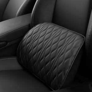 Image 4 - Memory Foam Car Headrest Pillow Leather Embroidered Seat Supports Sets Back Cushion Adjustment Auto Neck Rest Lumbar Pillows
