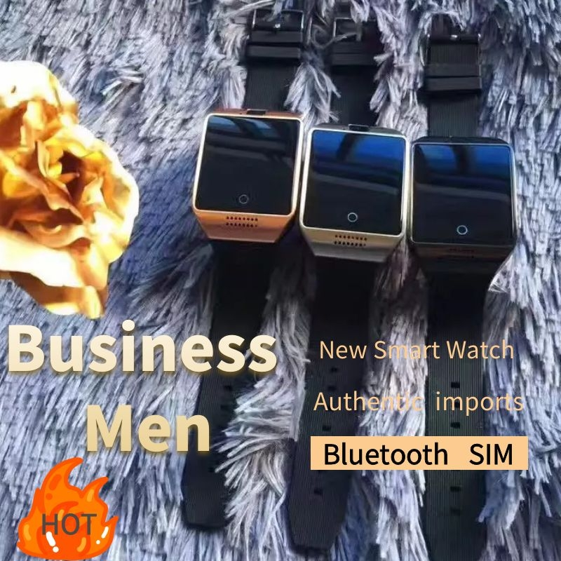 2020 New Bluetooth Smart Watch Men Q18 With Touch Screen Big Battery Support TF Sim Card Camera For Android Phone Smartwatch