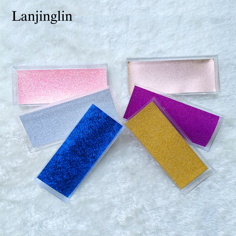 Lanjinglin 30 Boxes False Eyelashes Case 3d Mink Lashes Packaging Flash Low Card Empty Packaging Makeup Eyelash Storage