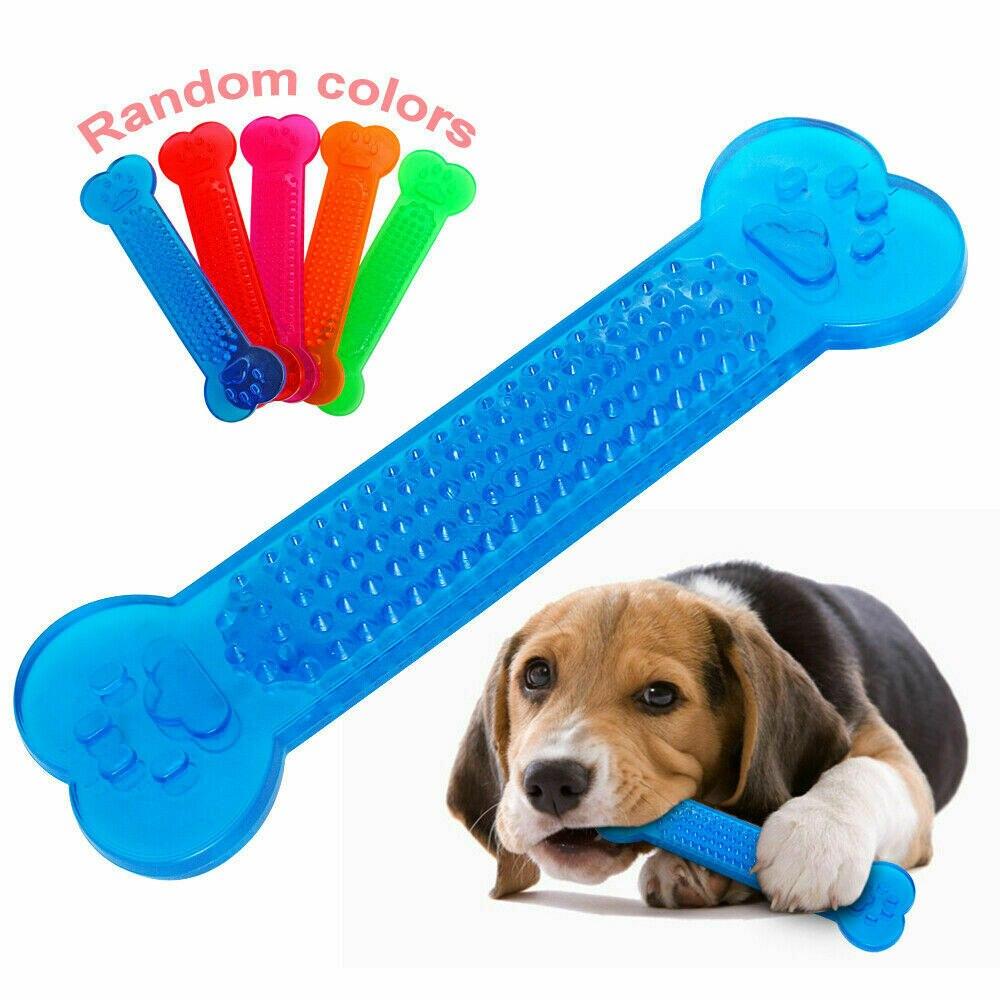 Горячая Распродажа, прочные игрушки для жевания собак, резиновые игрушки для костей, агрессивная зубная щетка для собак, собачка, щенок, уход за зубами, для аксессуаров для домашних питомцев собак-0