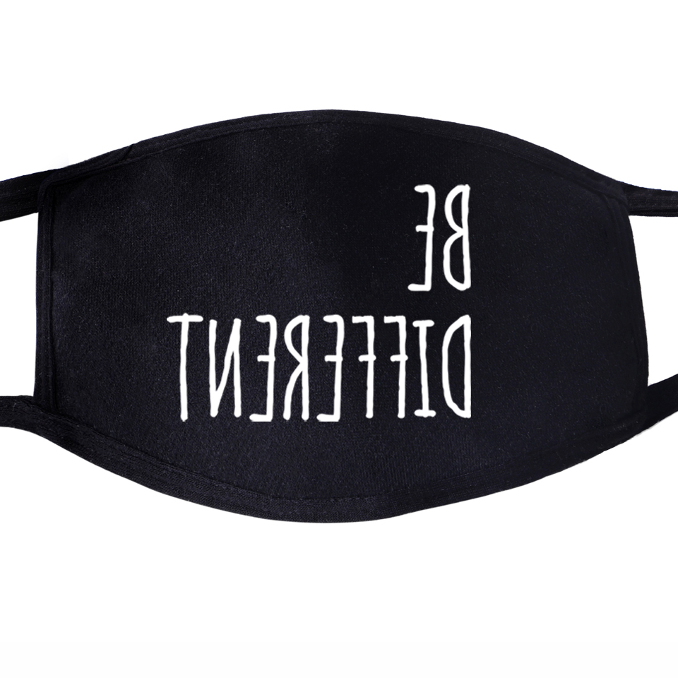 Face Mask Mouth Fabric Anti Dust Unixex Black Muffle Face Funny Dustproof Facial Protective Cover Pattern Face Mask