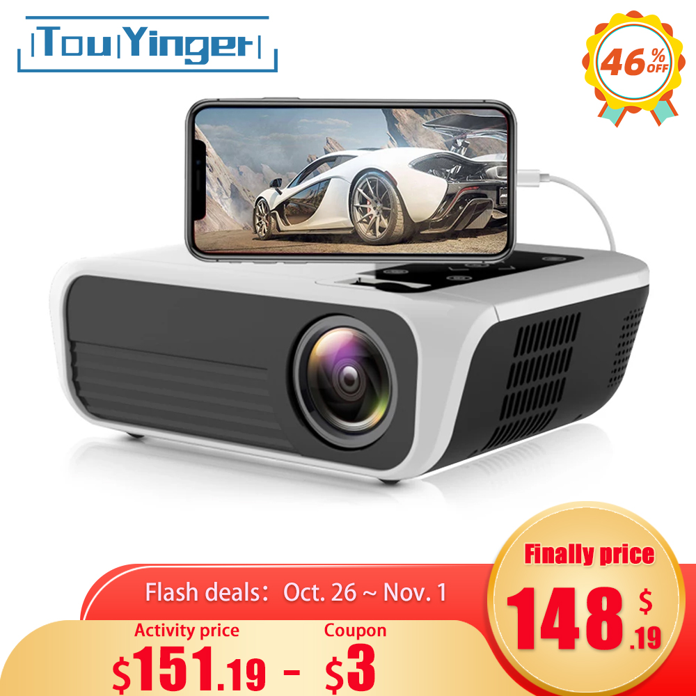 Touyinger L7 LED Native 1080P Projector full HD mini brands USB beamer 4500 Lumens Android 7 1 wifi Bluetooth Home cinema HDMI