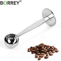 BORREY 304Stainless Steel Coffee Tamper 50mm Espresso Coffee Tamper With Measuring Spoon Coffee Powder Press Barista Tamper Tool