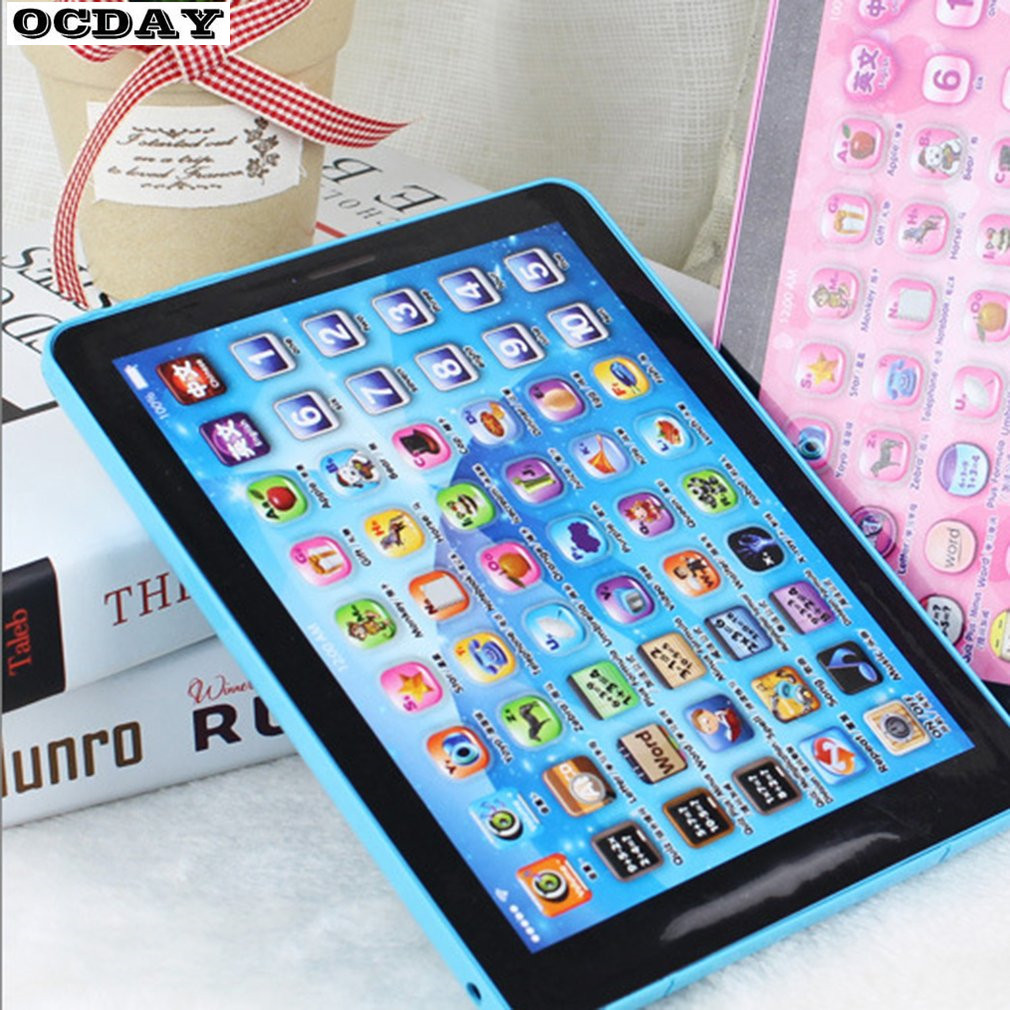 Baby Touch Computer Tablet Pad Educational Toys Kids Early Learning Reading English Chinese Language Machine For Kids Children image