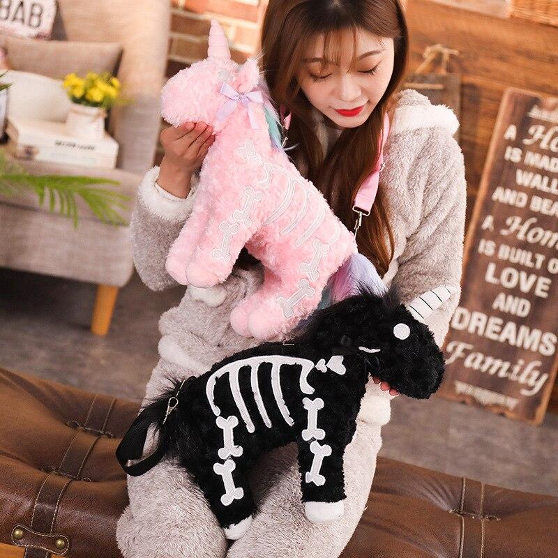 40cm Unicorn Plush Toy Backpack Soft Stuffed Popular Cartoon Unicorn Doll Animal Horse Toy High Quality Toys For Children Girls