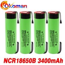 신제품 오리지널 NCR18650B 3.7 v 3400mah 18650 리튬 충전식 배터리 용접 니켈 시트 배터리 전동 공구, 6-20pcs