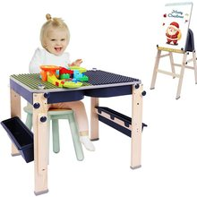 Kids Desk Wooden Children's Easel Foldable Kids Table Double-sided Desktop Adjustable Safe Non-toxic and Odorless Activity Table