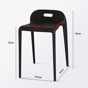 Image 5 - Bắc Âu INS Sáng Tạo Nhựa Phân Ghế Ăn dành cho Phòng Ăn Nhà Hàng Nội Thất Phòng Khách Nhà Bếp Phòng Ngủ Ăn Phân