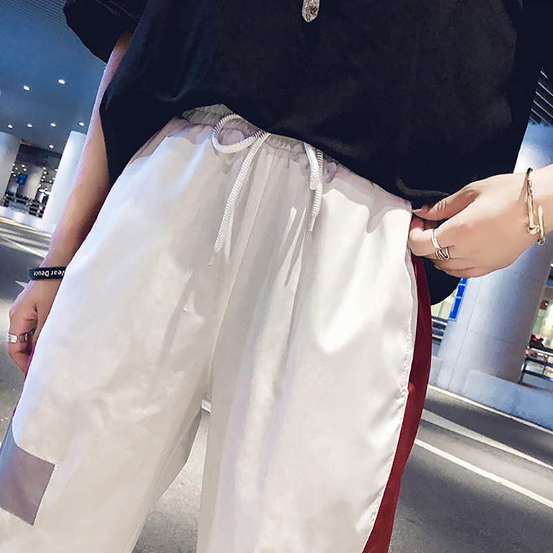 Women Color blocked Loose Sport Pants Fashion Personality Concise Casual All match Hip Hop Pants in Pants amp Capris from Women 39 s Clothing