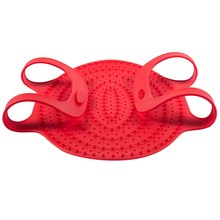 Heat Resistance Silicone Turkey Poultry Lifter Non-Stick Oven Barbeque Mat Bbq Meat Tools Accessories-Red(China)