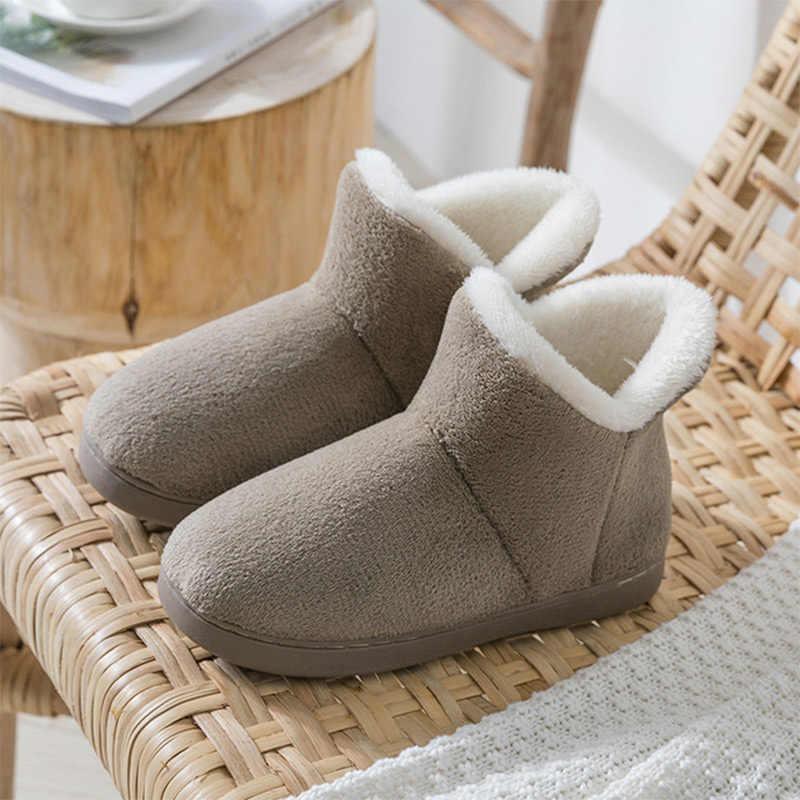 Kadın klasik kar botları bayanlar peluş kürklü sıcak yarım çizmeler kadın düz rahat taklit kürk kış kadın bağcıksız ayakkabı yeni
