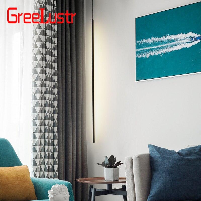 Nordic Minimalistischen Schlafzimmer Nacht Anhänger Leuchtet Moderne Wohnzimmer Anhänger Lampe Linie Licht Kreative Atmosphäre LED Hängen Lampe - 2