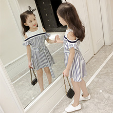 2019 new summer kids dresses for girls fashion girls dress quality short sleeve dress girl neat summer girl dress fashion dresses for girls 100
