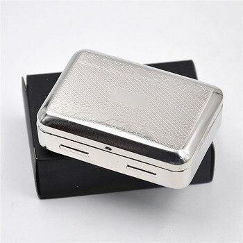 Envío gratis 1 Uds caja de tabaco metálica contenedores de estaño (pequeños) para papel de liar y almacenamiento de cigarrillos b002