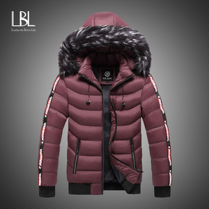 2020 Parka Men Winter Fur Hooded Jackets Men Thick Windbreaker Outwear Warm Coats Casual Solid Brand Clothing Plus Size S-5XL