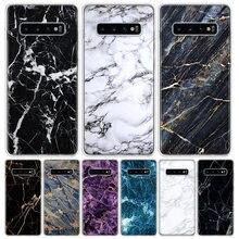 Czarny marmur ziarna prostota etui na telefon do Samsung Galaxy A50 A70 A30S A51 A71 A10 A20E A40 A90 A20S M30S A6 A7 A8 A9 Plus Coq