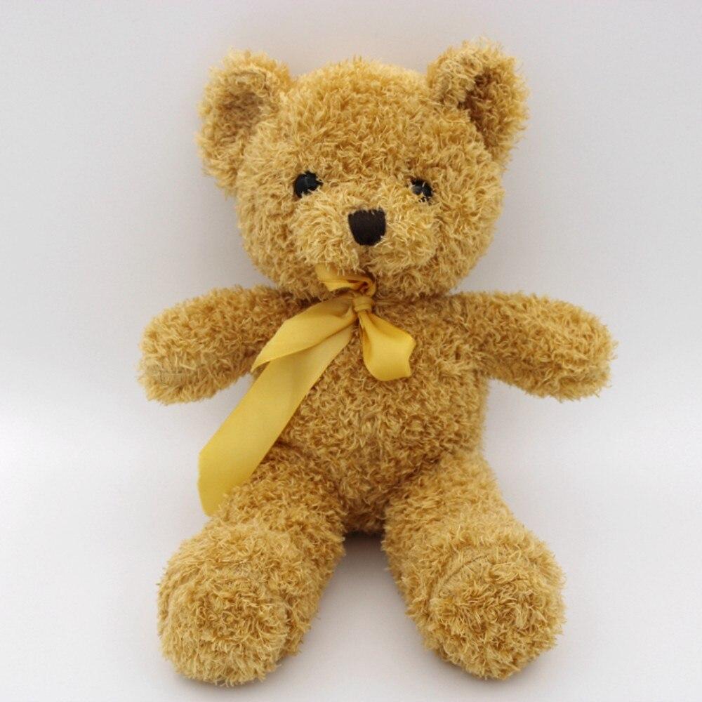 30CM new to super cute fashion dance bow teddy bear stuffed toy, doll birthday gift, wedding gift, Christmas gift