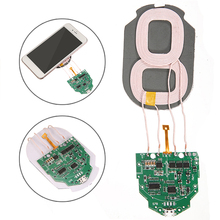 10W Qi Fast Charging Wireless Charger PCBA Circuit Board Dual 2 Coils DIY DC 5V 2A Qi Wireless Charging Standard Accessories 10w high power fast charging 3 coil diy wireless charging module pcba qi mobile wireless charging board