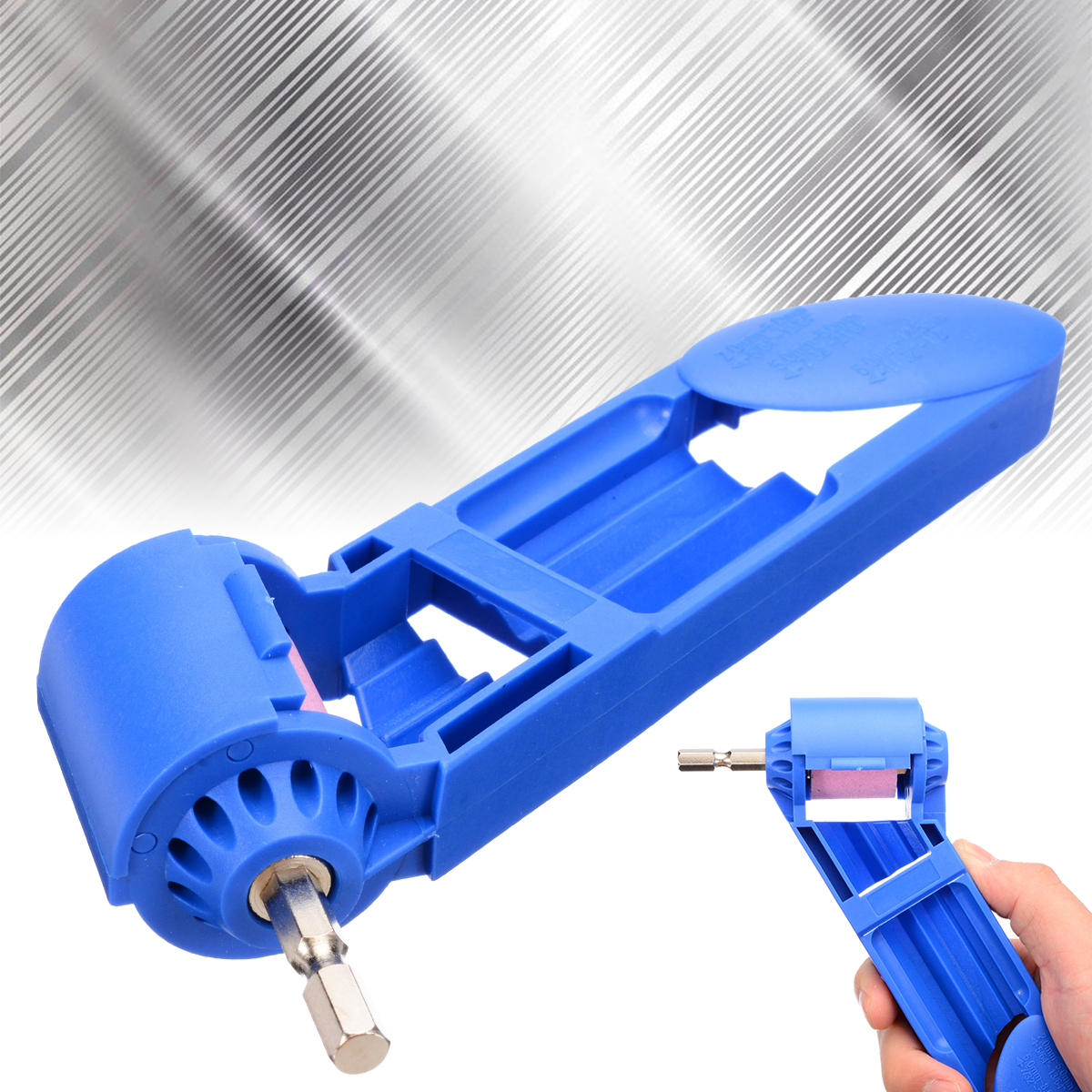 Portable Drill Bit Grinder 185*40mm Corundum Grinding Wheel Drill Bit Sharpener Titanium Drill Powered Polishing Tool